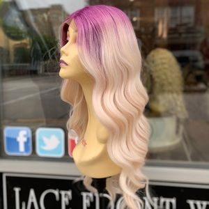 Accessories - Purple blonde deep wave swisslace Lacefront Wig